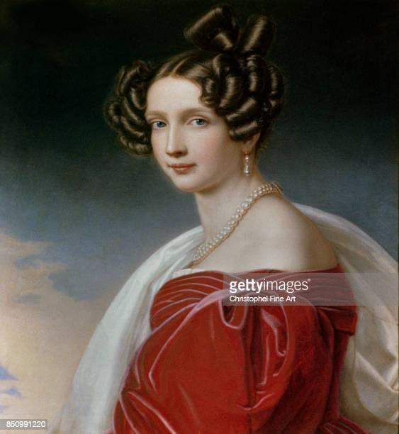 Stieler Joseph Karl , Portrait of Sophie of Bavaria, Archduchess of Austria , Munich. Chateau De Nymphenburg.
