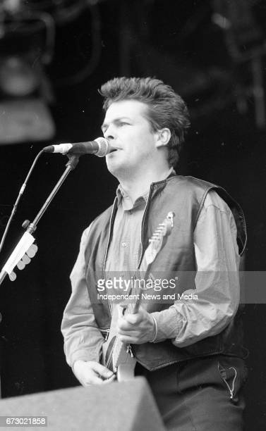 Stiff Little Fingers on stage at the Feile Festival in Thurles Tipperary