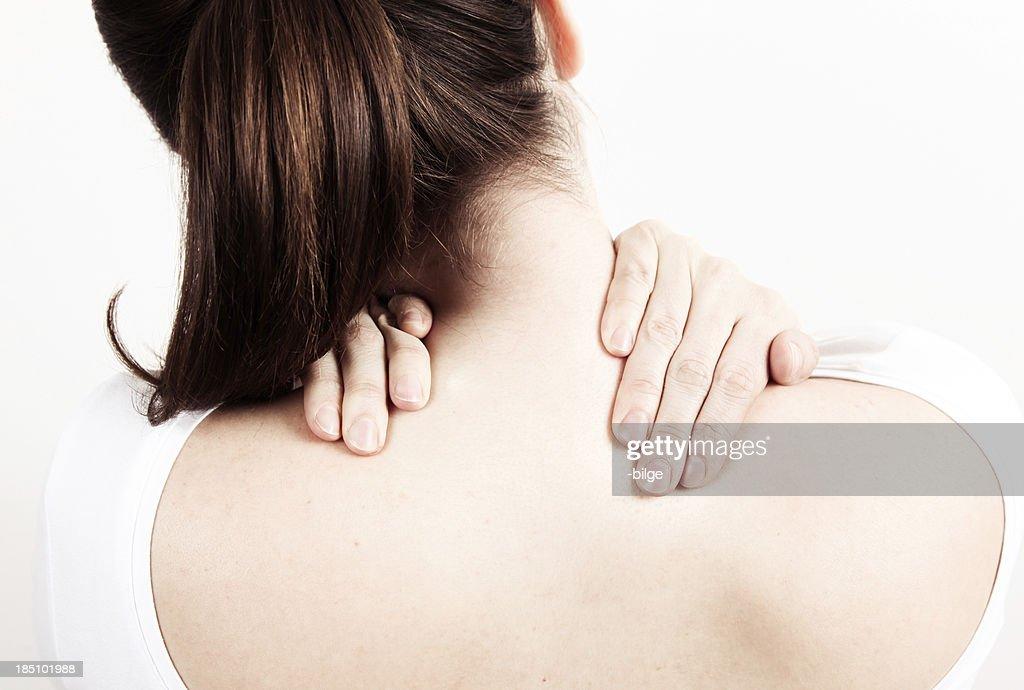 Stiff neck : Stock Photo