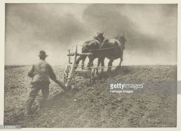 Stiff Pull, , circa 1883/87, printed 1888. A work made of photogravure, plate iv from 'pictures of east anglian life,' published by sampson low,...
