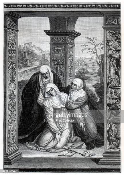 'Stigmatization of Saint Catherine of Siena' After the painting by Sodoma in an Domenico Siena Italy A print from Les Chef D'oeuvre de la Peinture...