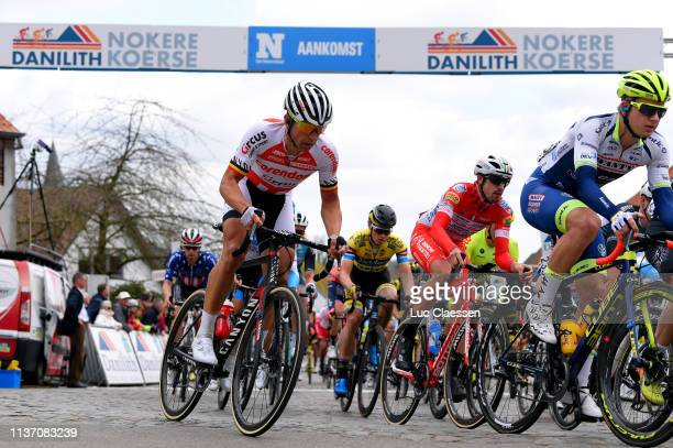 Stijn Devolder of Belgium and Team Corendon Circus / Mattia Cattaneo of Italy and Team Androni Giocattoli Sidermec / Ludwig De Winter of Belgium and...