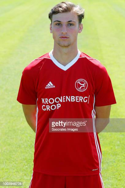 Stijn Meijer of Almere City during the Photocall Almere City at the Yanmar Stadium on July 16 2018 in Almere Netherlands