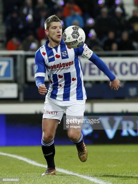 Stijn Schaars of sc Heerenveen during the Dutch Eredivisie match between sc Heerenveen and NAC Breda at Abe Lenstra Stadium on December 16 2017 in...