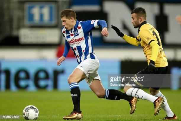 Stijn Schaars of SC Heerenveen Rai Vloet of NAC Breda during the Dutch Eredivisie match between SC Heerenveen v NAC Breda at the Abe Lenstra Stadium...