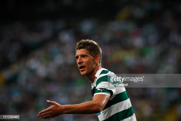Stijn Schaars of Sporting Clube de Portugal before the Portuguese Primeira Liga ZON Sagres match between Sporting Lisbon and Olhanense at the...