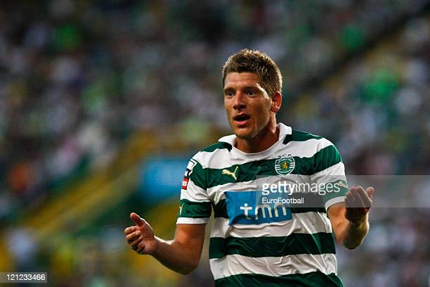 Stijn Schaars of Sporting Clube de Portugal in action during the Portuguese Primeira Liga ZON Sagres match between Sporting Lisbon and Olhanense at...