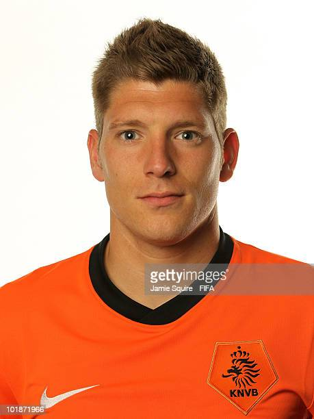 Stijn Schaars of The Netherlands poses during the official FIFA World Cup 2010 portrait session on June 7 2010 in Johannesburg South Africa