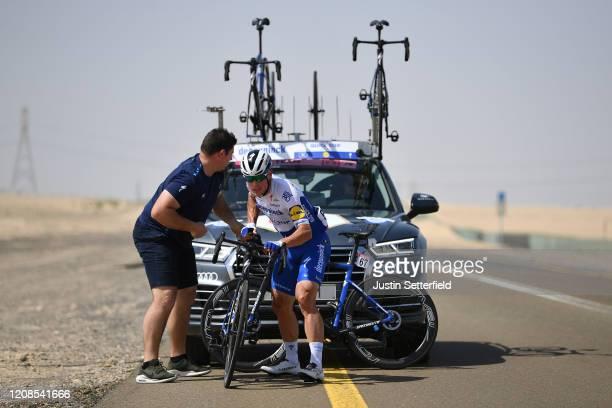 Stijn Steels of Belgium and Team Deceuninck - Quick - Step / Mechanical Problem / Mechanic / Car / Bike / Breakaway / during the 6th UAE Tour 2020,...
