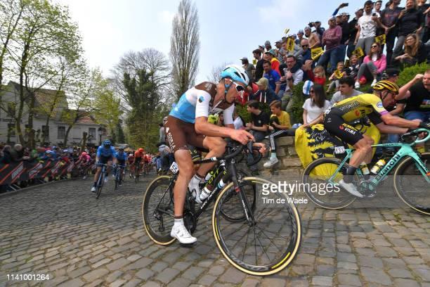 Stijn Vandenbergh of Belgium and Team Ag2R La Mondiale / De Muur van Geraardsbergen / Cobblestones / Fans / Public / during the 103rd Tour of...