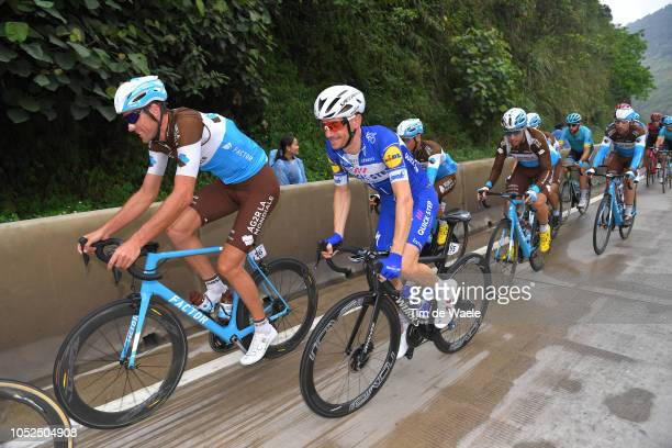 Stijn Vandenbergh of Belgium and Team Ag2R La Mondiale / Dries Devenyns of Belgium and Team QuickStep Floors / during the 2nd Tour of Guangxi 2018...
