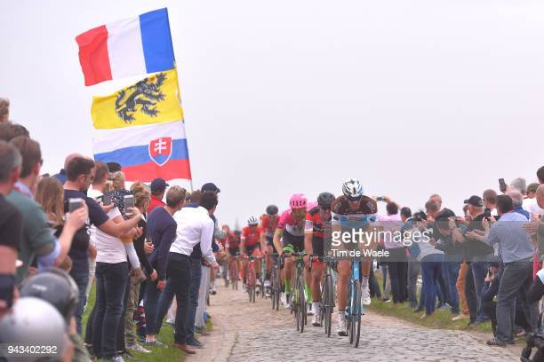Stijn Vandenbergh of Belgium and Team AG2R La Mondiale / Greg Van Avermaet of Belgium and BMC Racing Team / Taylor Phinney of The United States and...