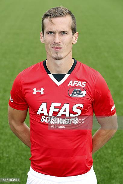 Stijn Wuytens during the team presentation of AZ Alkmaar on July 13 2016 at Afas Stadium in Alkmaar The Netherlands