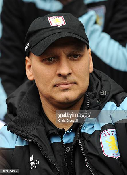 Stiliyan Petrov of Aston Villa looks on from the bench during the Barclays Premier League match between Wigan Athletic and Aston Villa at DW Stadium...