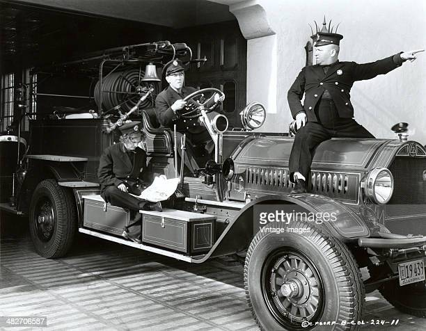 A still from a film starring The Three Stooges as firemen circa 1935