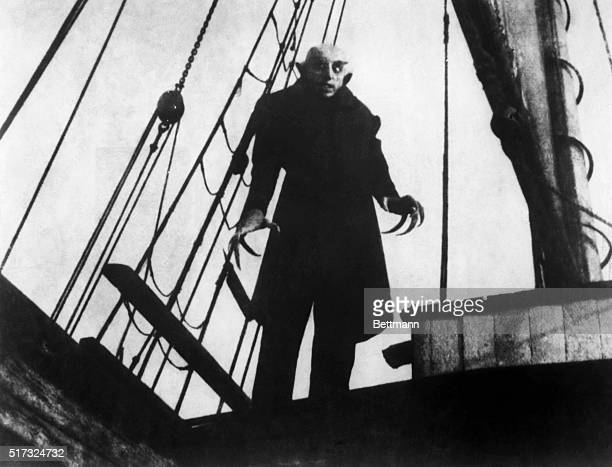 Still from the famous 1922 German film 'Nosferatu' prototype of future films dealing with vampires BPA