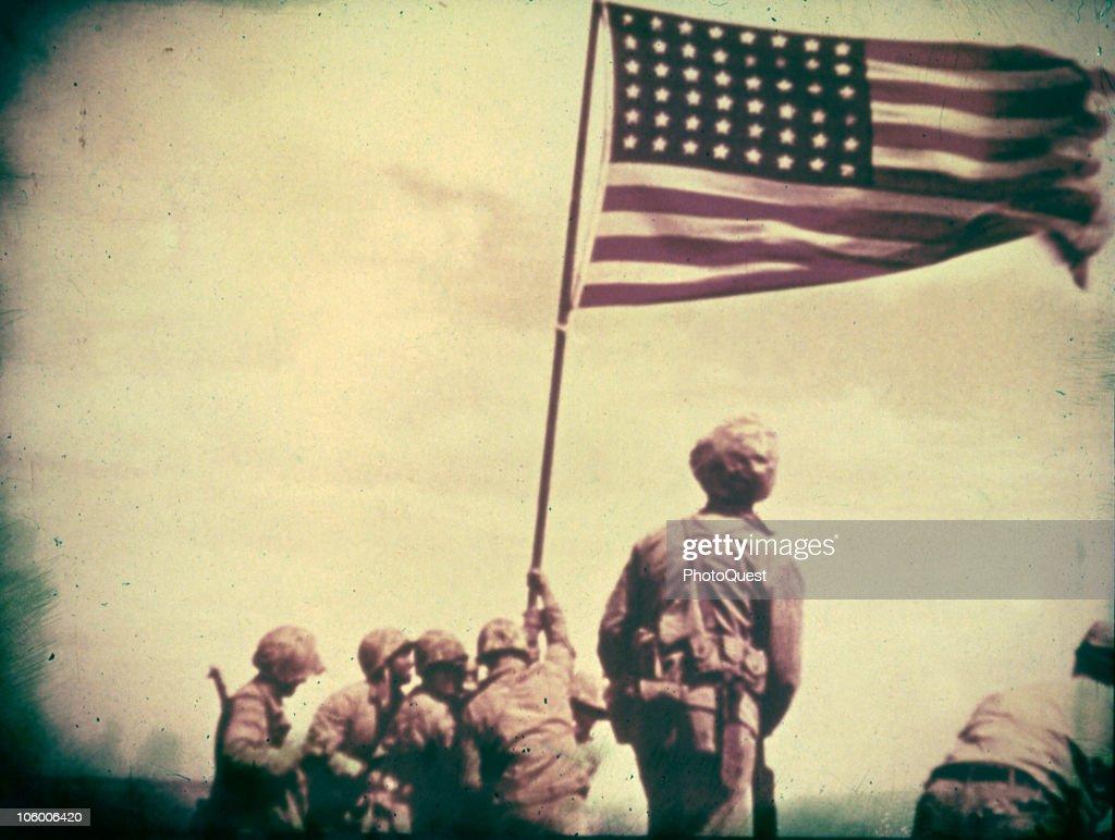 Flag Raising On Iwo Jima : News Photo