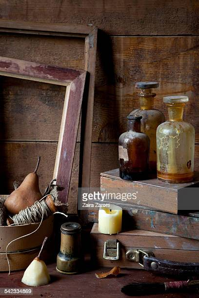 Still life composition with vintage objects