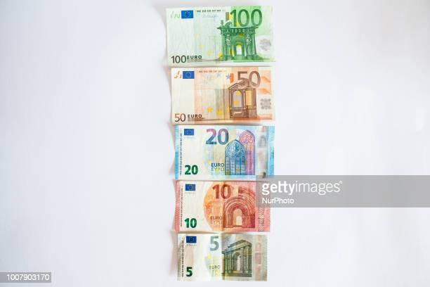 Still Life Euro bills in Naples Italy July 302018
