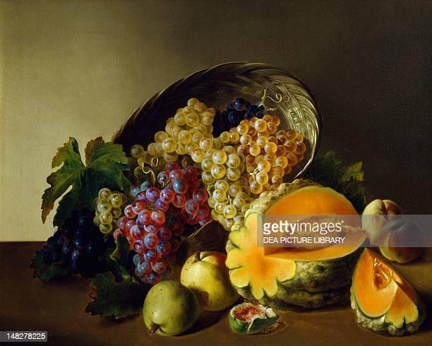 Still life fruit composition by Francesco Malacrea Trieste Museo Revoltella Galleria D'Arte Moderna