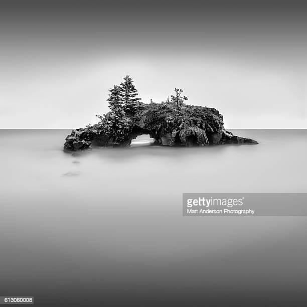 Still Life - Hollow Rock in BW