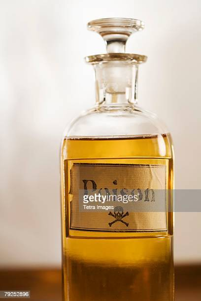 Still life of a bottle of poison