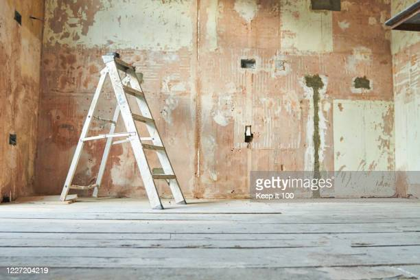still life of a domestic renovation project - renovation stock pictures, royalty-free photos & images