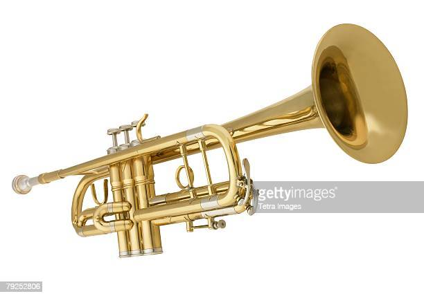 still life of a horn - brass stock pictures, royalty-free photos & images