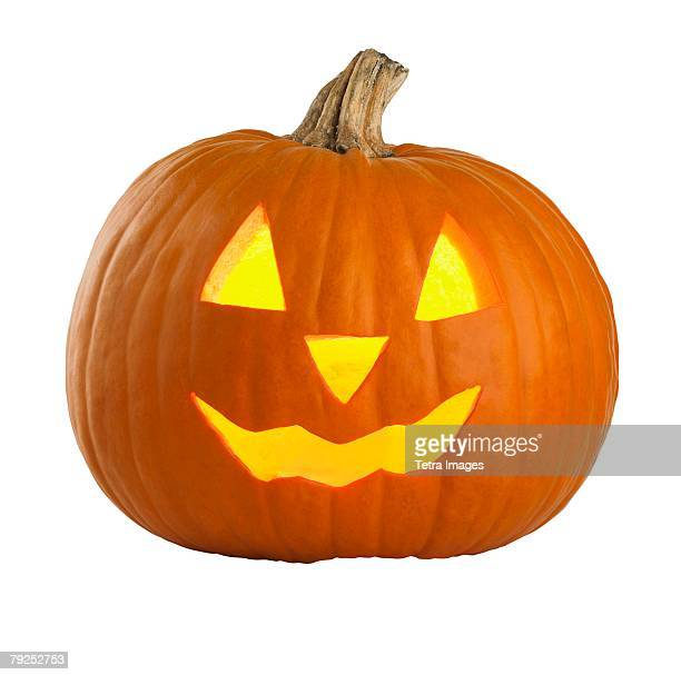 still life of a jack o lantern - pumpkin stock pictures, royalty-free photos & images