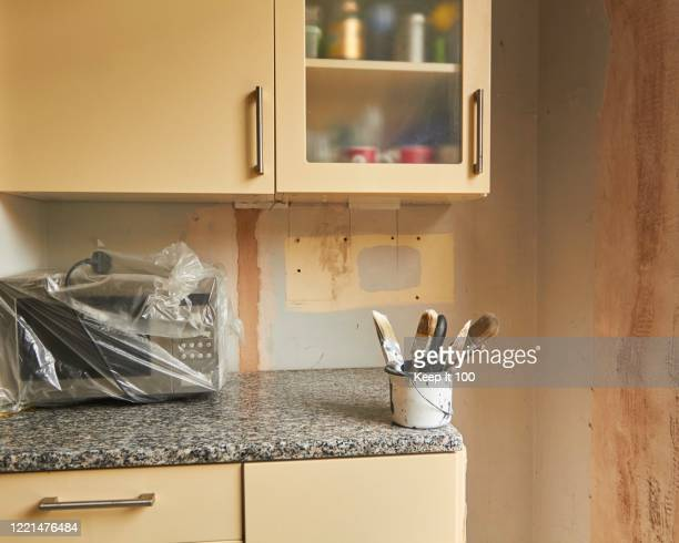 still life of a kitchen renovation project - renovation stock pictures, royalty-free photos & images