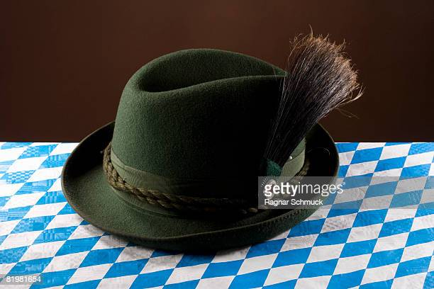 Still life of a stereotypical German hat, alpine hat