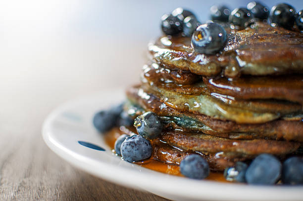 Still Life Of Blueberry Pancakes With Maple Syrup Wall Art