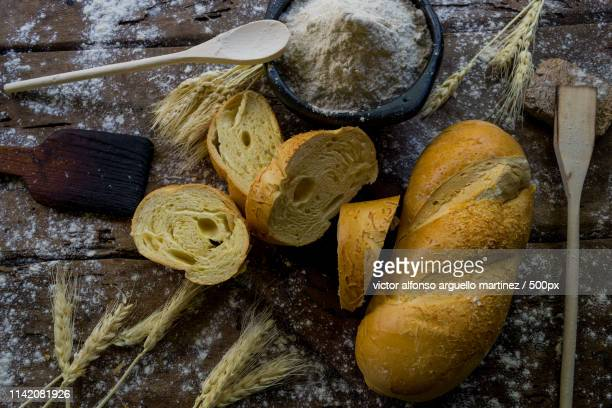 Still Life Of Bread And Wheat Flour