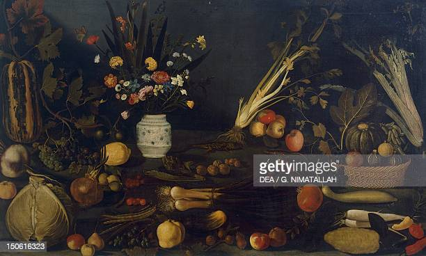 Still life of flowers and plants by Michelangelo Merisi da Caravaggio