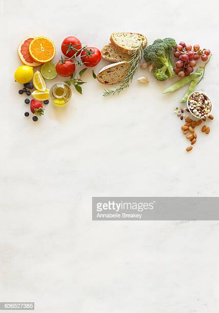 Still Life of Fresh Nutritious Superfoods