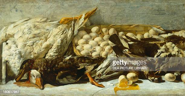 Still life of Giovanni Segantini oil on canvas 57x110 cm