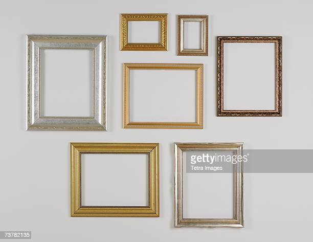 Still Life Of Hanging Picture Frames Without Pictures