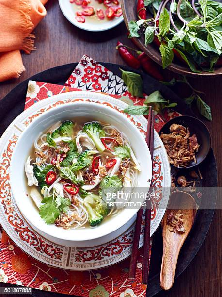 Still life of hu tieu mi di hero, vietnamese meal