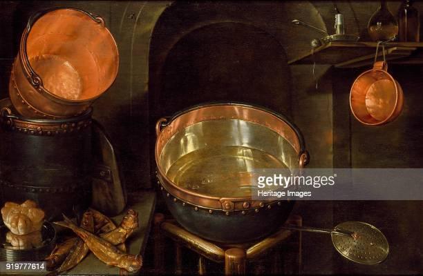 Still Life of Kitchen Utensils, early 17th century. Artist Cornelis Jacobsz Delff.