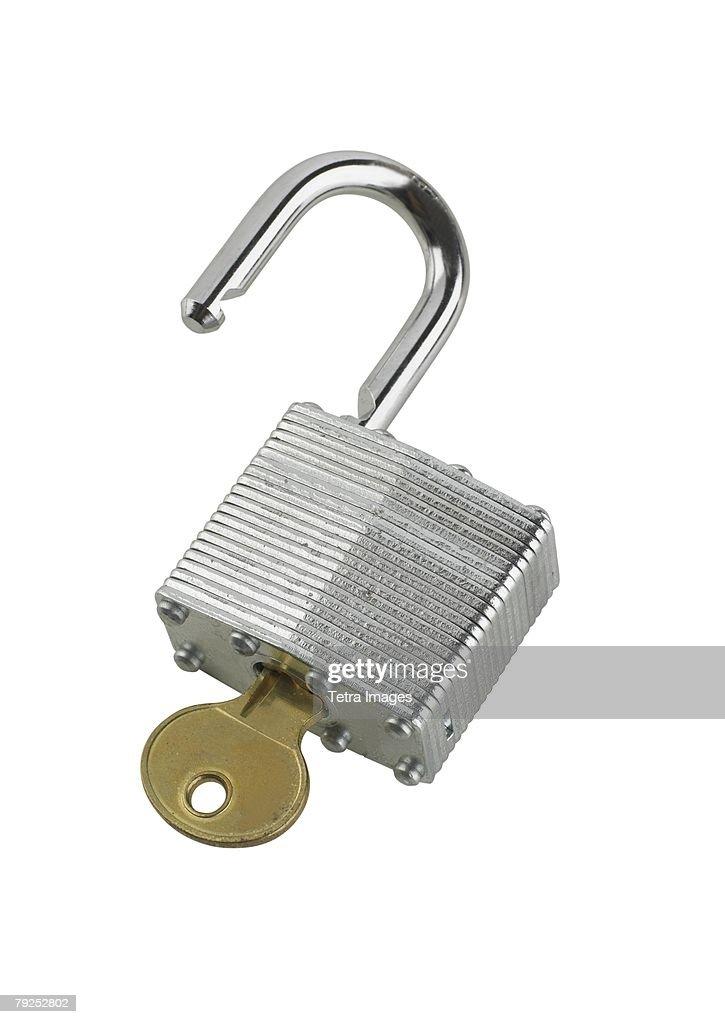 Still life of lock and key : Stock Photo