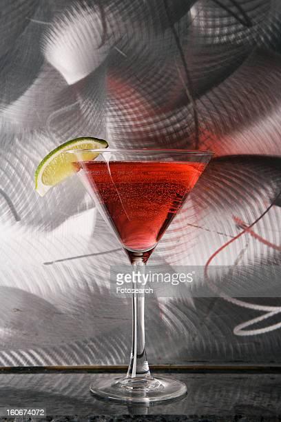 Still life of martini mixed drink