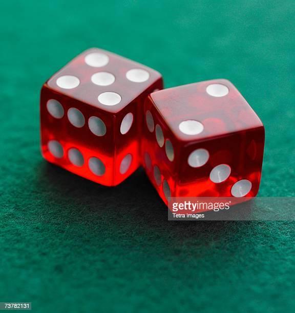Still life of pair of dice