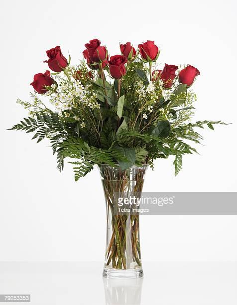 Still life of red roses