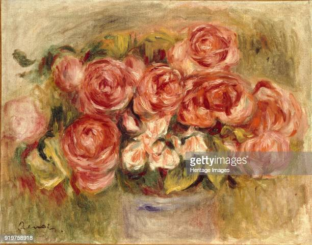 Still Life of Roses in a Vase 1880s and 1890s Artist PierreAuguste Renoir