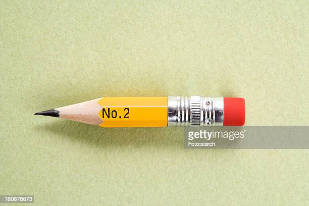 Still life of short worn down number 2 pencil