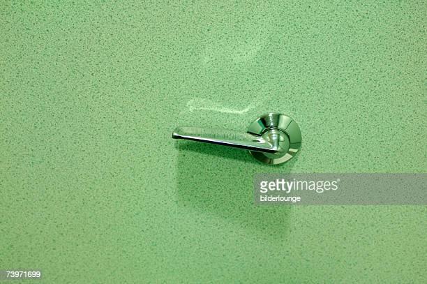 still life of toilet flush