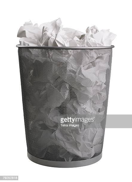 Still life of trash can