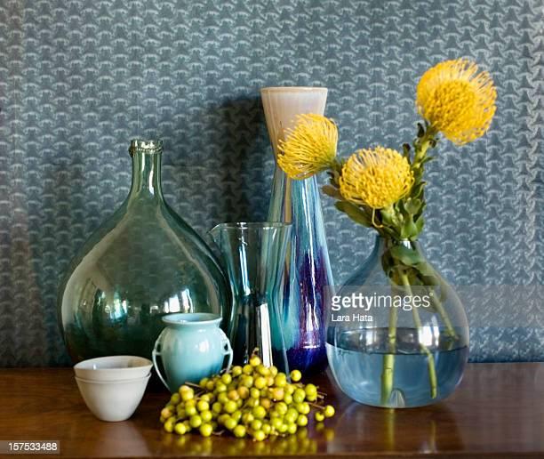 Still life of vases