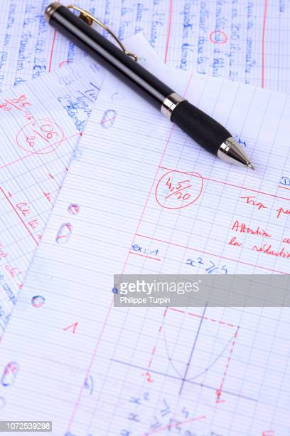 still life on the topic of mathematics - baccalaureat stock pictures, royalty-free photos & images