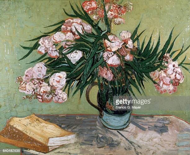 OneEared Vase with Oleanders and Books by Vincent van Gogh